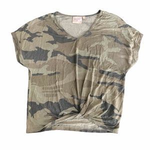 DANTELLE camouflage twist front top small